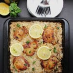 Baked Greek Chicken & Oregano Rice
