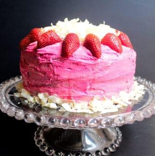 Chocolate Cake with Pink Vanilla Buttercream Icing