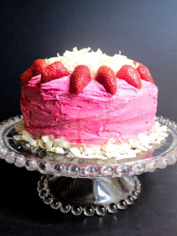 Chocolate Cake with Pink Vanilla Buttercream Icing