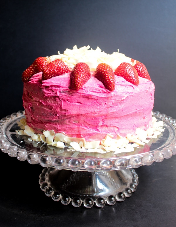 Chocolate Cake With Pink Vanilla Buttercream