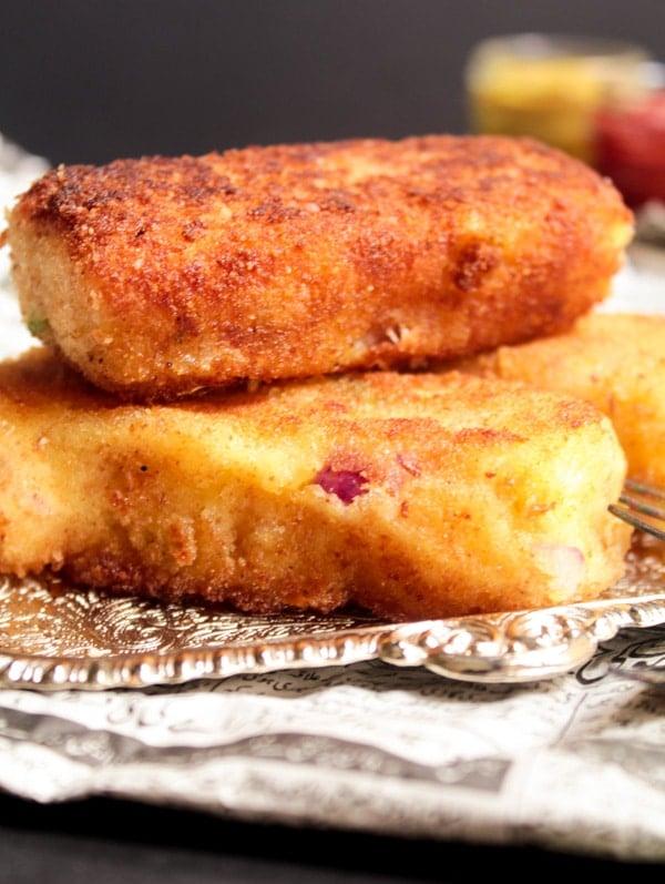 Golden Crispy Potato Cutlets