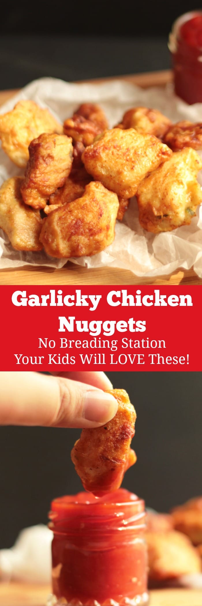 Garlicky Chicken Nuggets