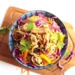 Chicken Chow Mein with Rainbow Vegetables