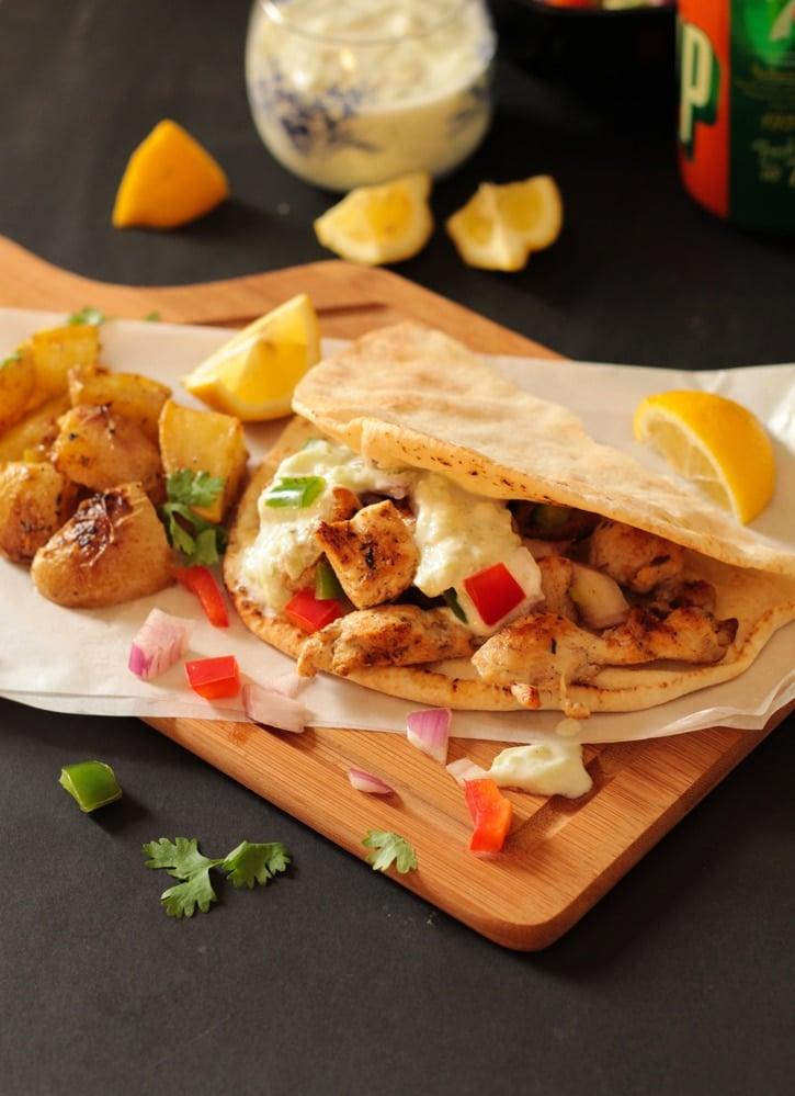 recipe: greek chicken souvlaki wrap recipe [18]