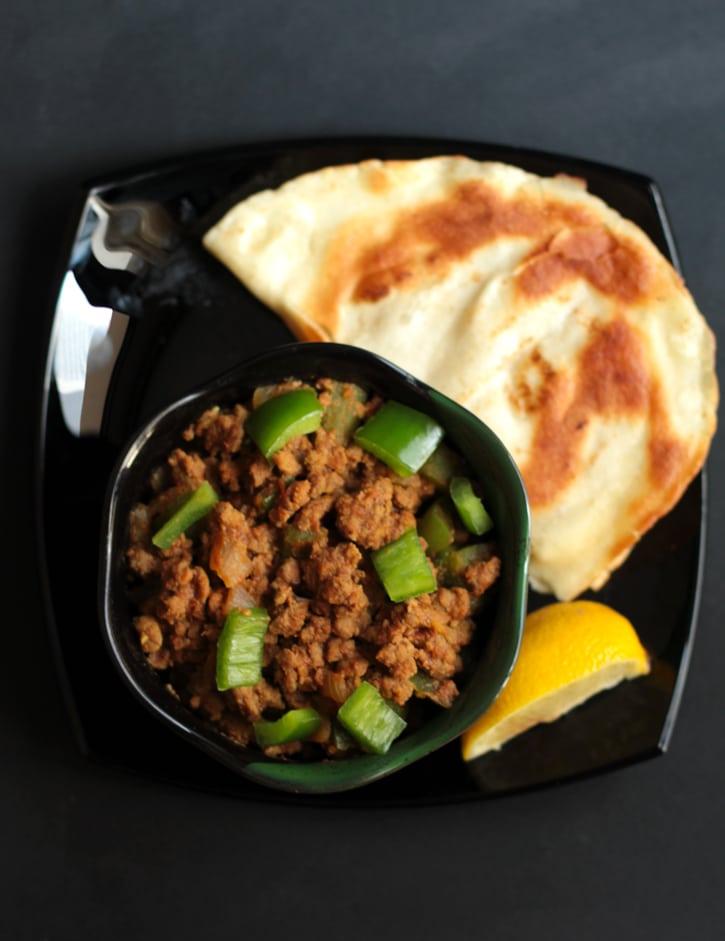 Spicy Minced Beef with Capsicum (Keema Shimla Mirch)