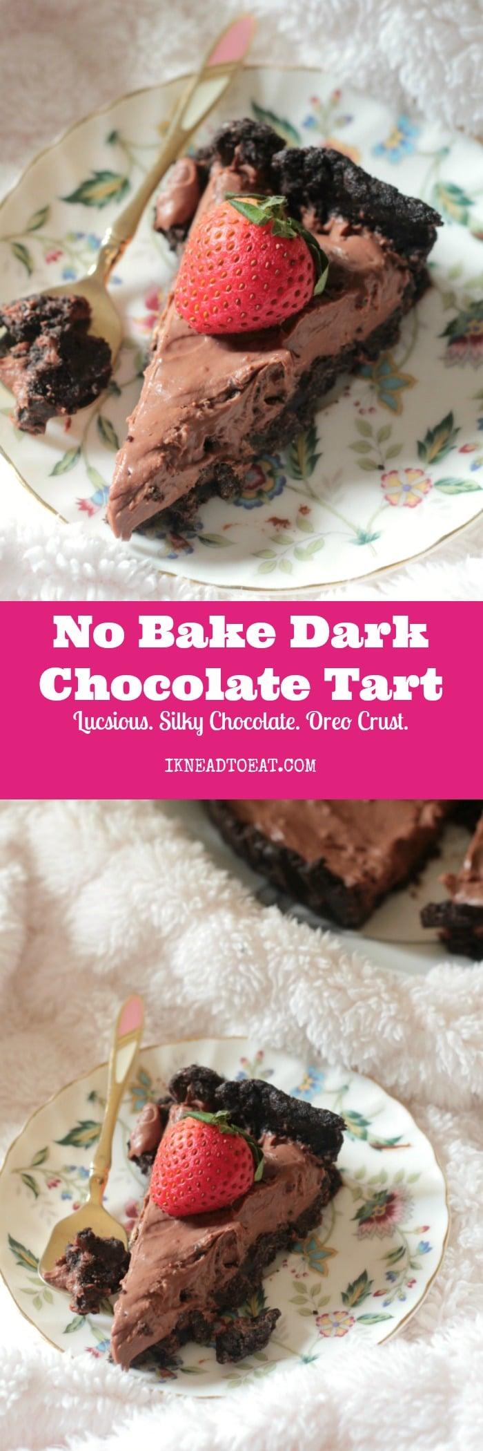 No Bake Dark Chocolate Tart