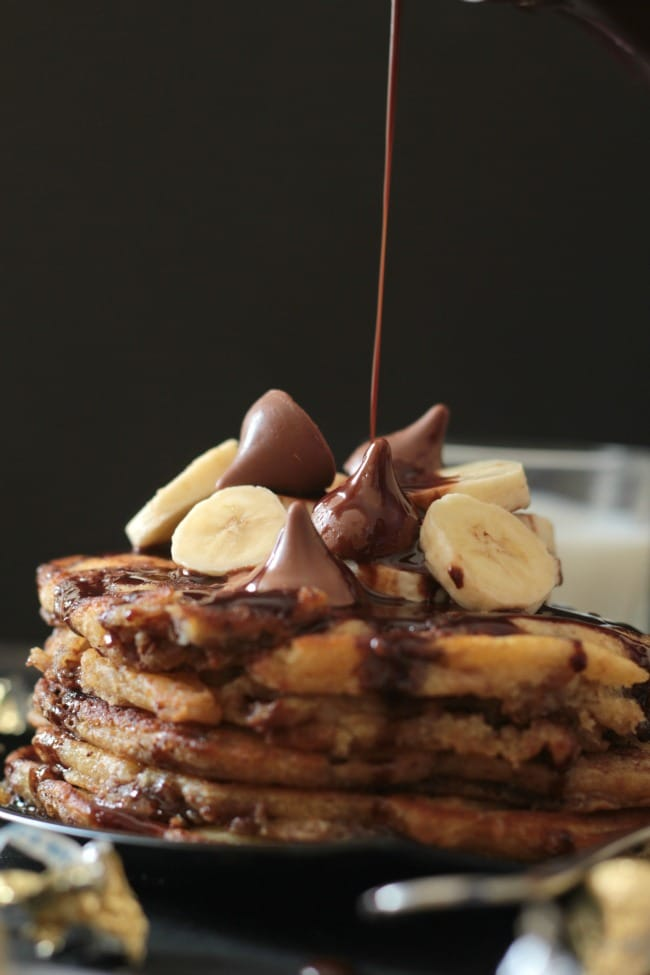 hershey's kisses stuffed pancakes 2