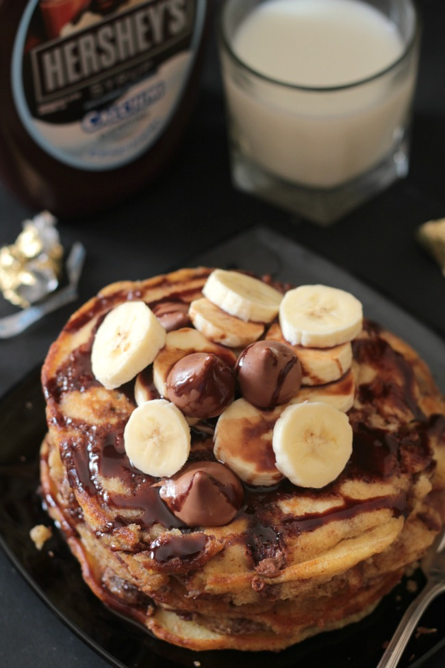 hershey's kisses stuffed pancakes 3