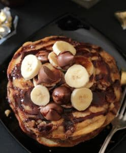 hershey's kisses stuffed pancakes 4