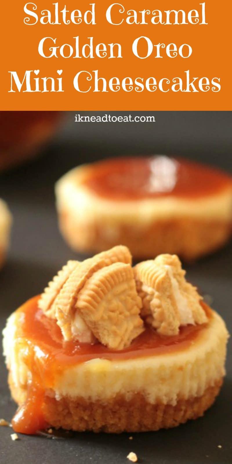 Salted Caramel Golden Oreo Mini Cheesecakes