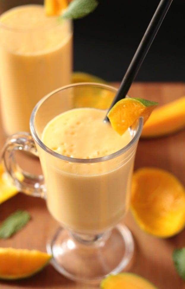 Thick Creamy Mango Milkshake I Knead To Eat