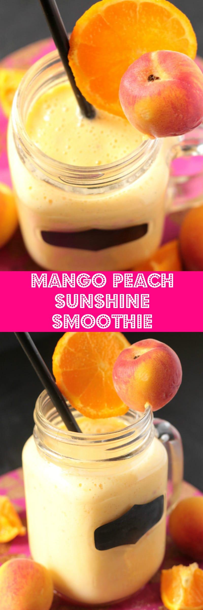 Mango Peach Sunshine Smoothie