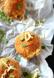 Mozzarella Cheese Stuffed Mashed Potato Balls