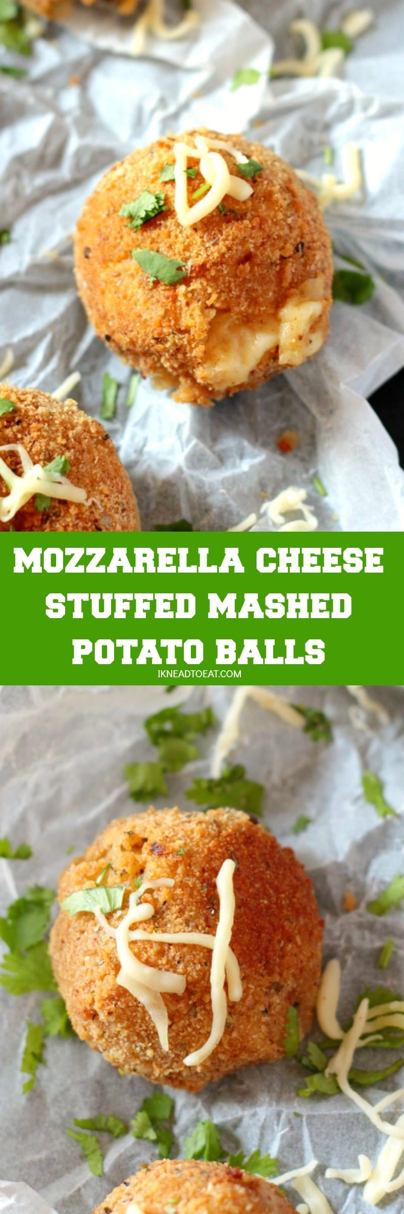 Mozzarella Cheese Stuffed Mashed Potato Balls I Knead To Eat