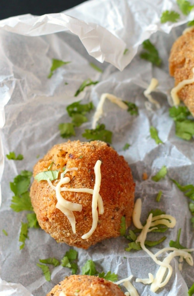 Mozzarella Cheese Stuffed Mashed Potato Balls (brighter)