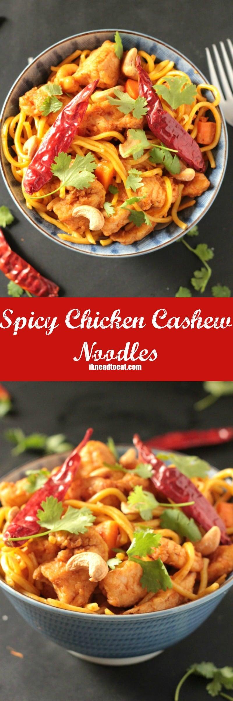 Spicy Chicken Cashew Noodles