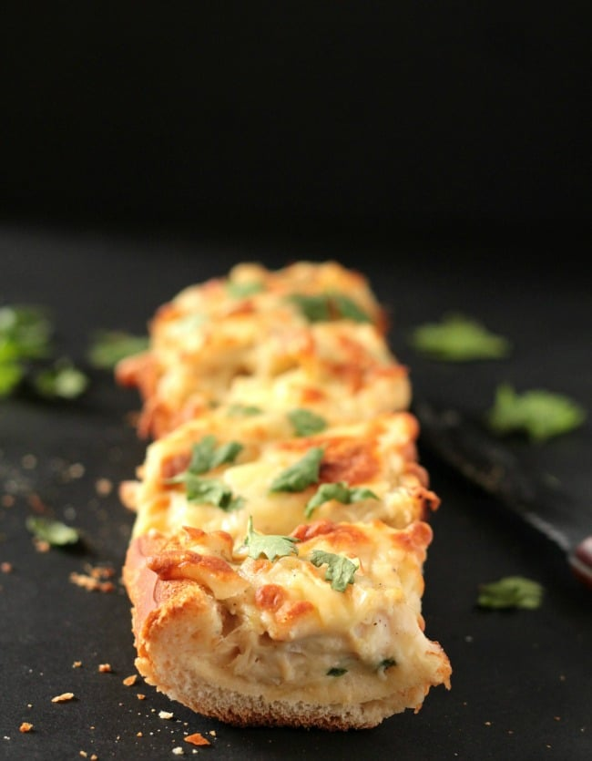 Cheesy Alfredo Chicken Bread