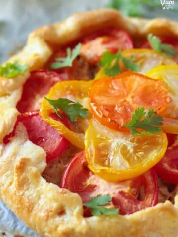 Summer Herbed Chicken & Tomato Galette