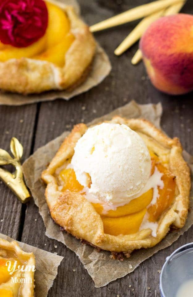 Mini Peaches & Cream Galettes