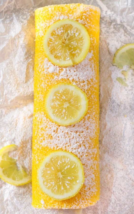 Lemon Swiss Roll with Lemon Cream Cheese Filling-1