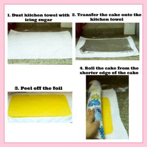 Swiss Roll Cake Step by Step Pictures