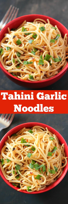 Tahini Garlic Noodles