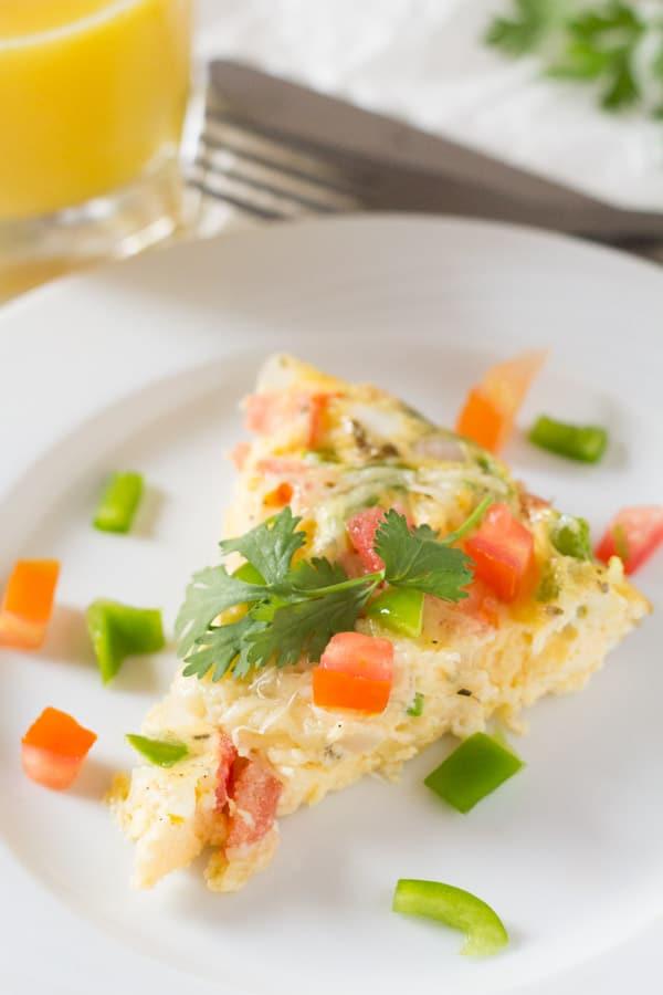 Cheesy Baked Oregano Omelette