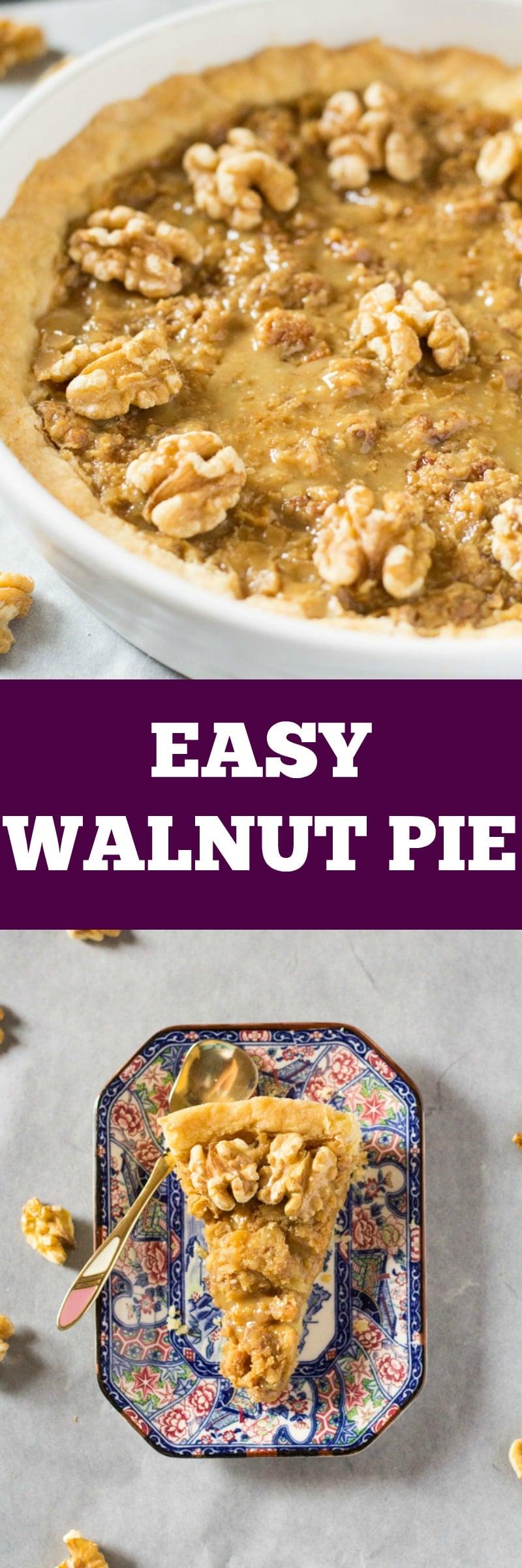 Easy Walnut Pie