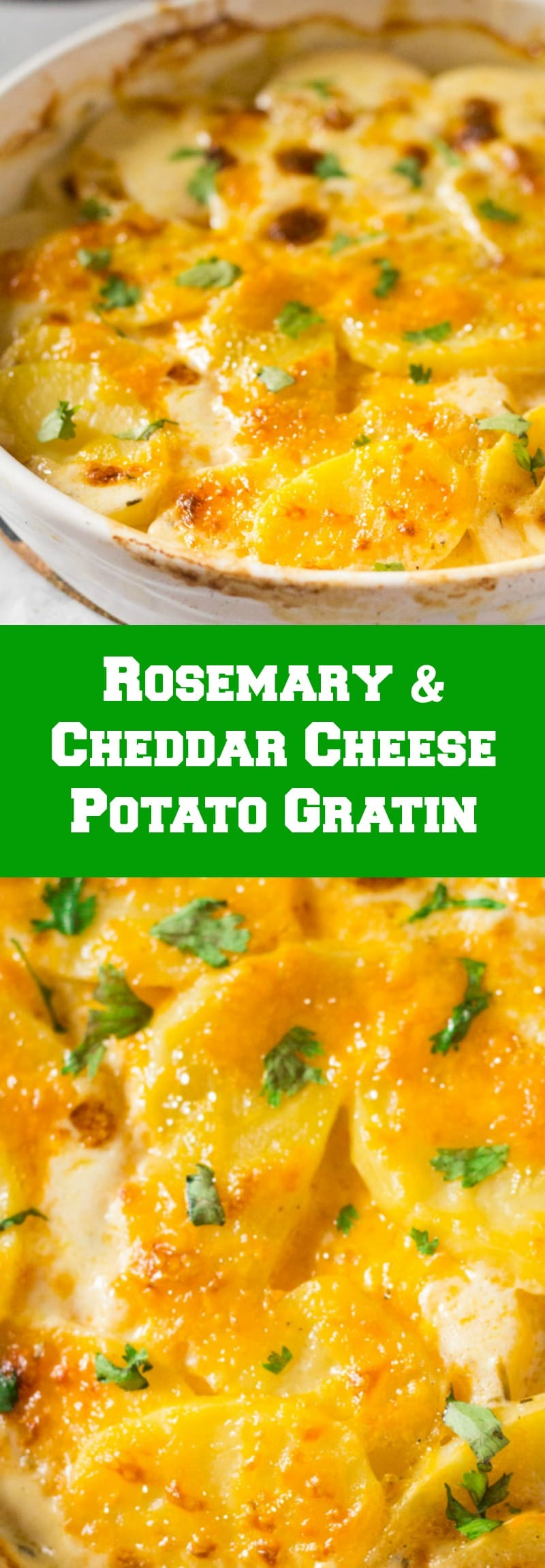 Rosemary & Cheddar Cheese Potato Gratin