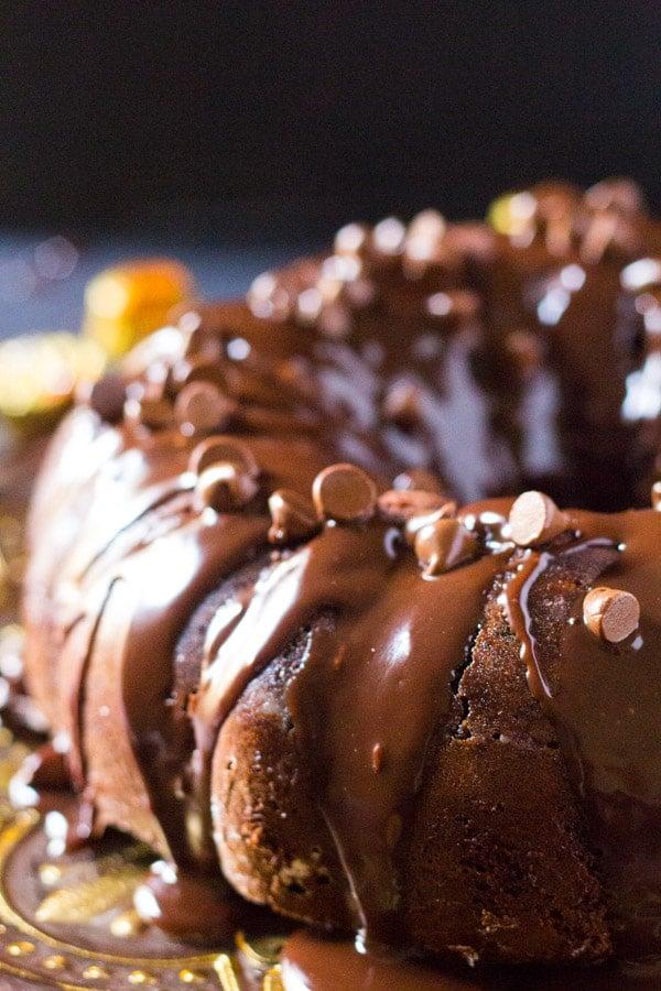 Reese's Triple Chocolate Bundt Cake