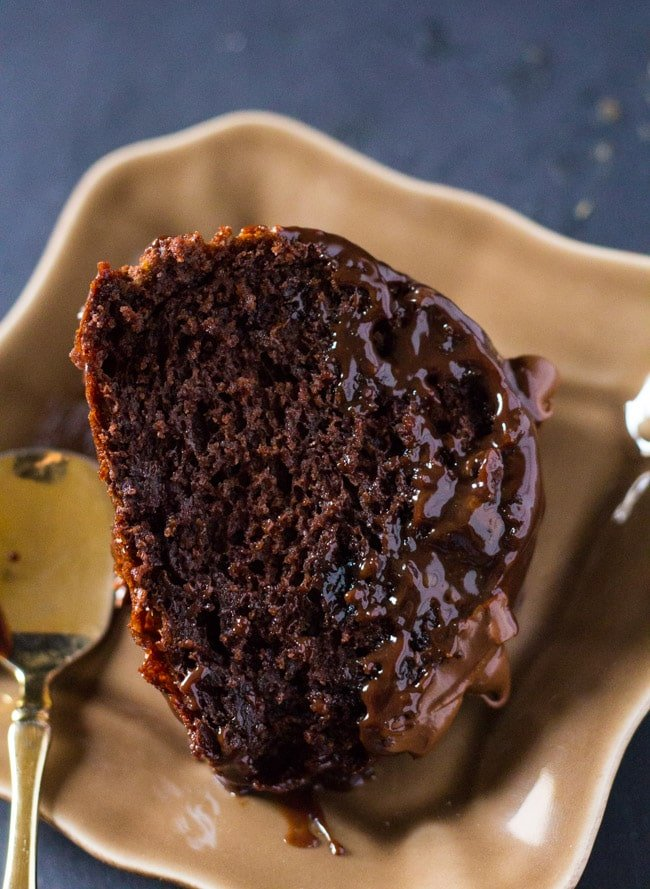 Triple Chocolate Bundt Cake With Reeses Peanut Butter