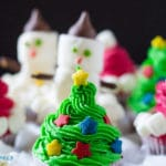 Three Easy Christmas Cupcakes