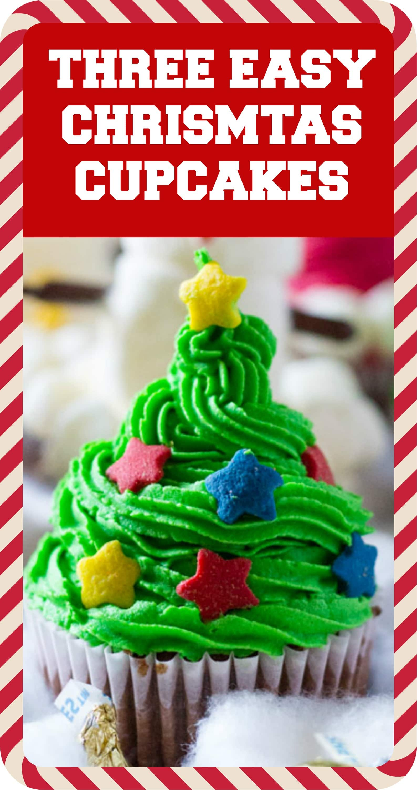 Three Easy Christmas Cupcakes | I Knead to Eat