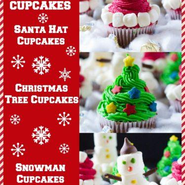 three easy christmas cupcakes