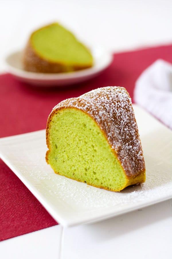 Pistachio Chocolate Swirl Bundt Cake