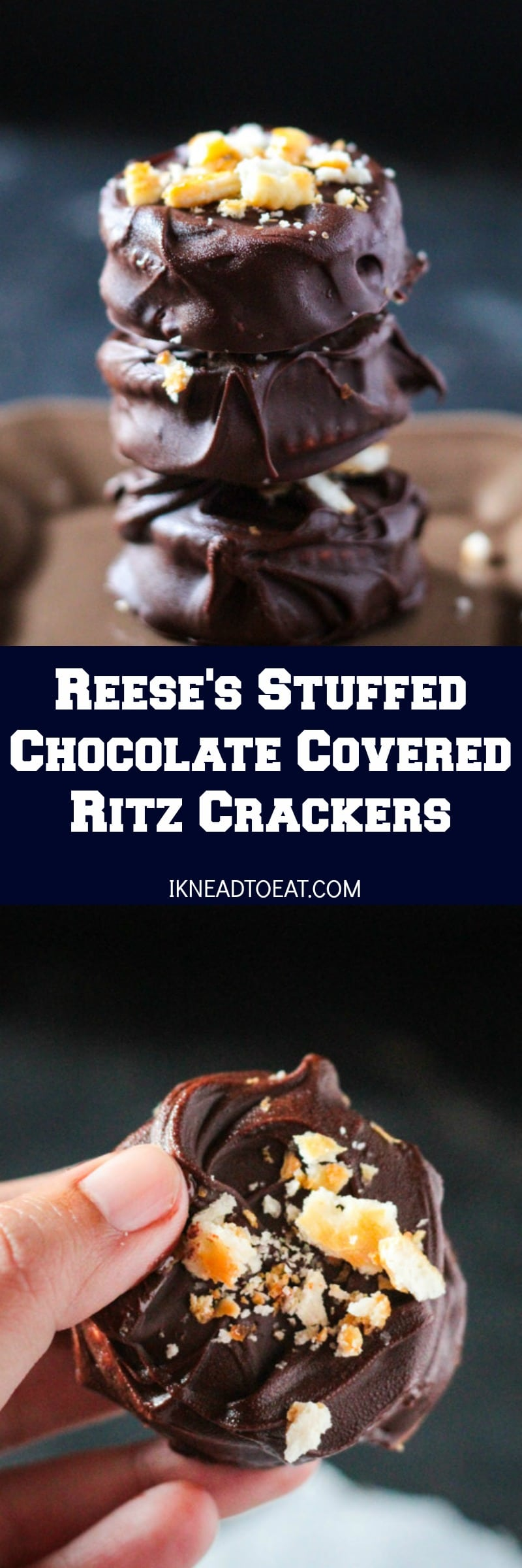 Reese's Stuffed Chocolate Covered Ritz Crackers