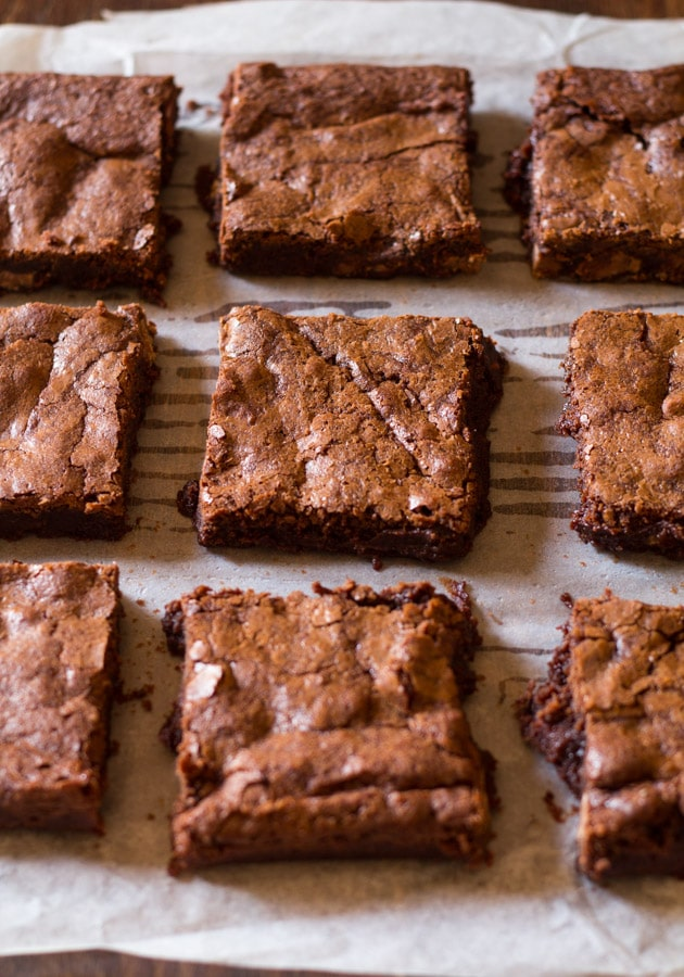 Chewy Fudgy Cocoa Brownies