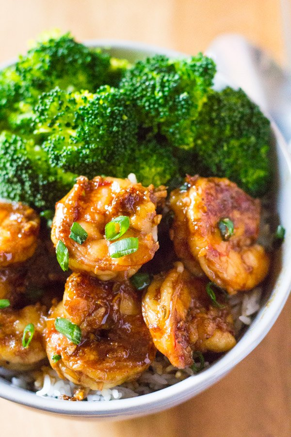 15 Minute Honey Garlic Shrimp