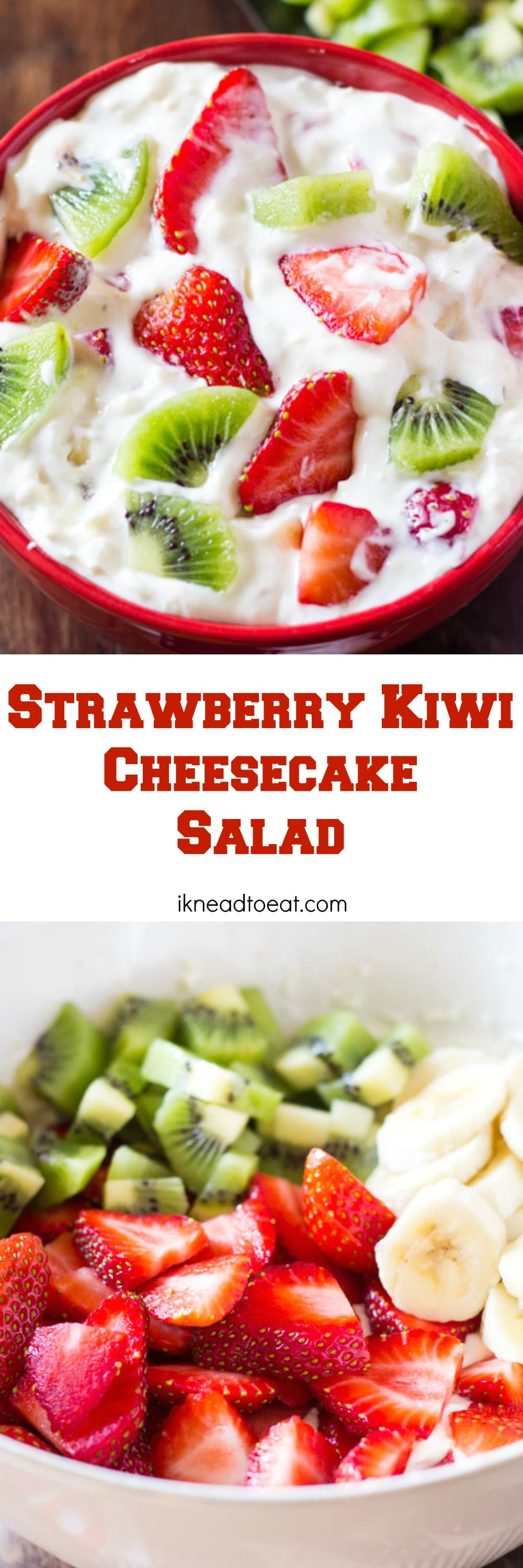 Strawberry Kiwi Cheesecake Salad