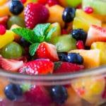 Honey Pineapple Rainbow Fruit Salad
