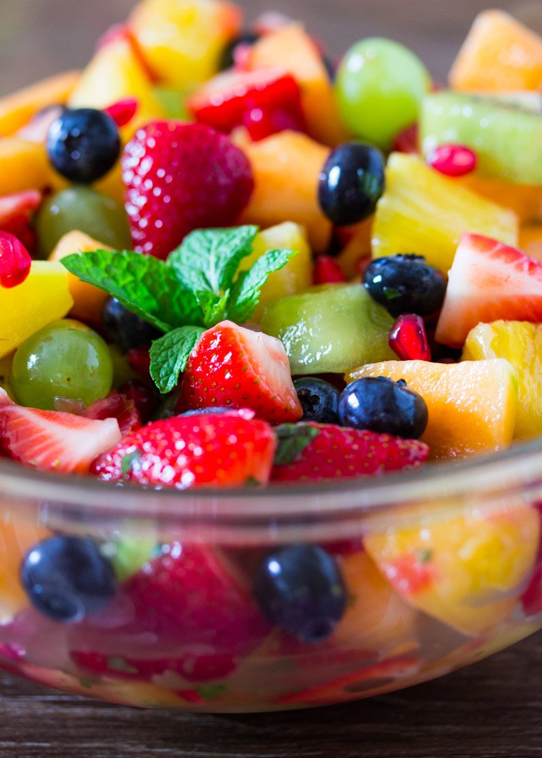 Honey Pineapple Rainbow Fruit Salad