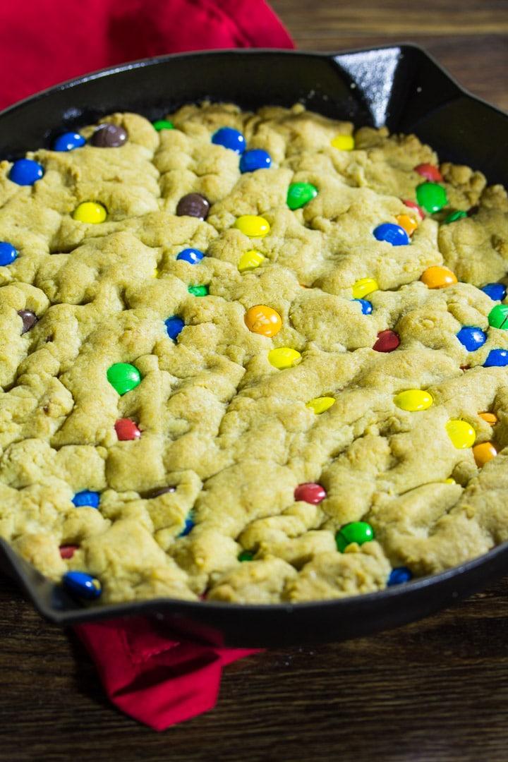 M&M's Skillet Cookie