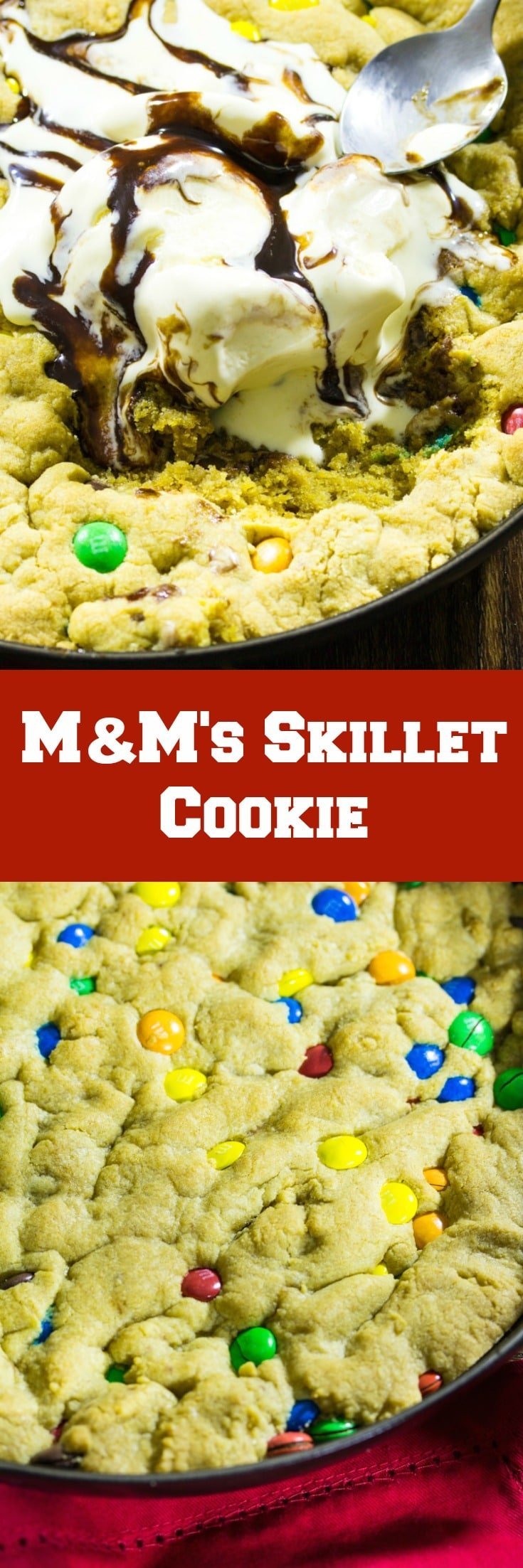 M&M's Skillet Cookie
