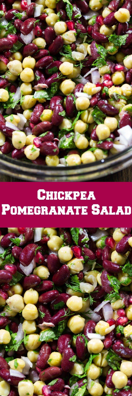 Chickpea Pomegranate Salad