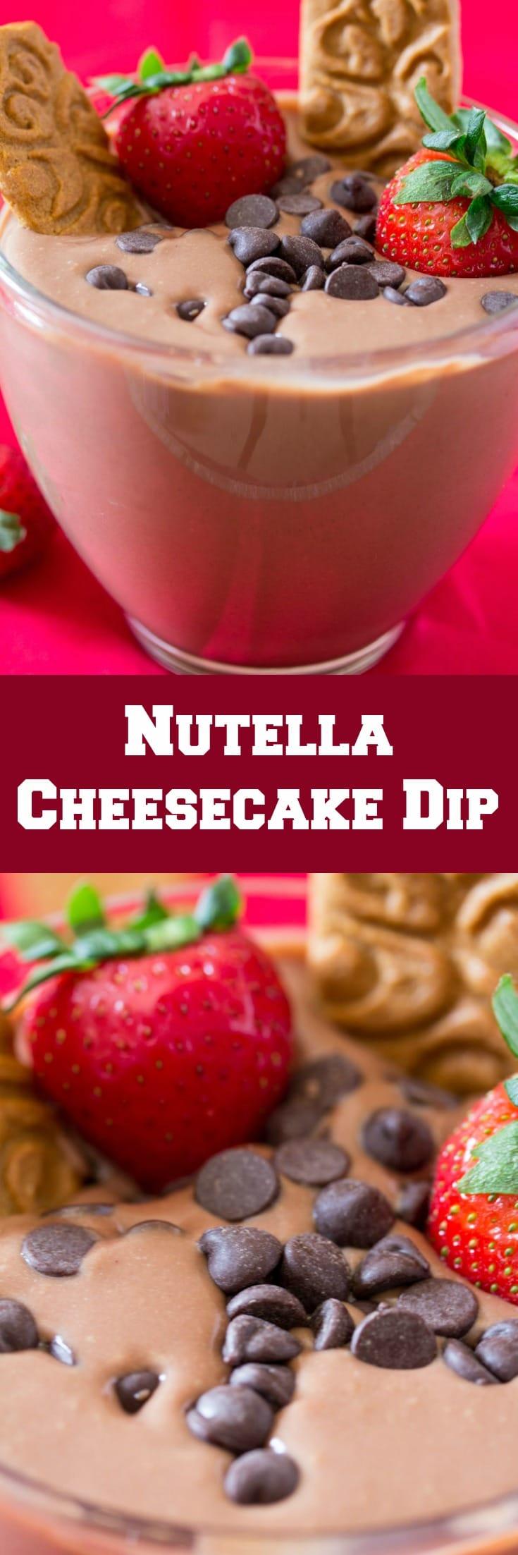 Five Minute Nutella Cheesecake Dip-4