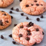 Chewy Strawberry Cake Mix Cookies