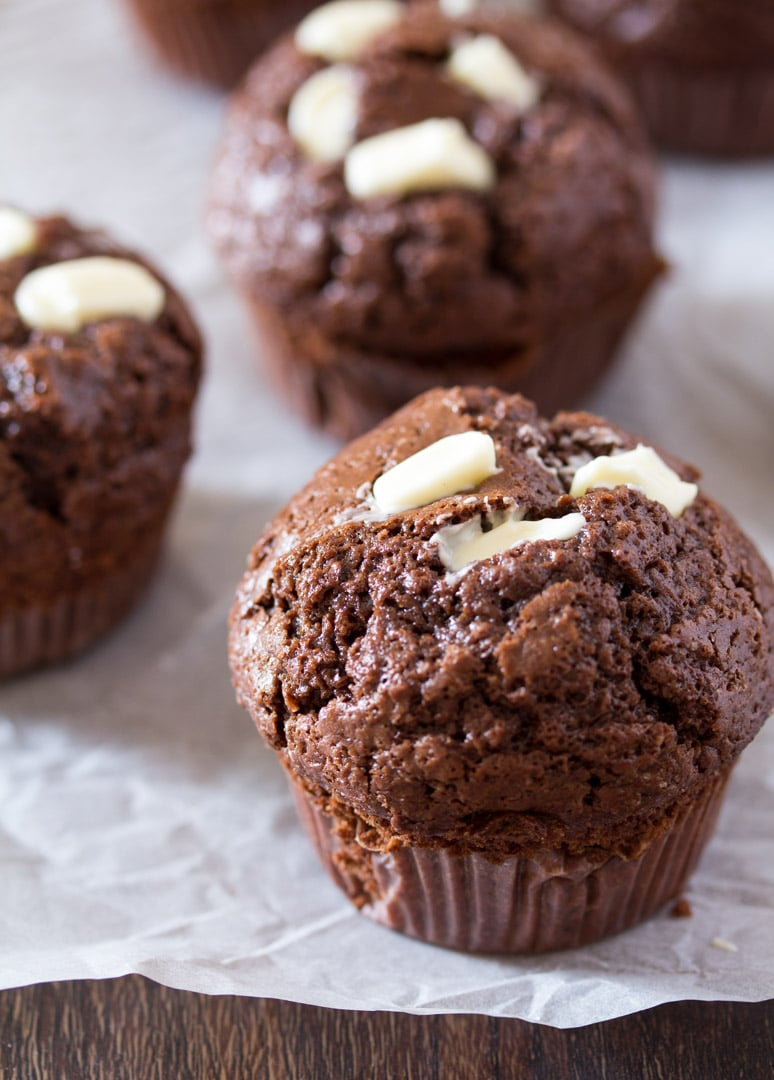 Cream Cheese Filled Chocolate Muffins
