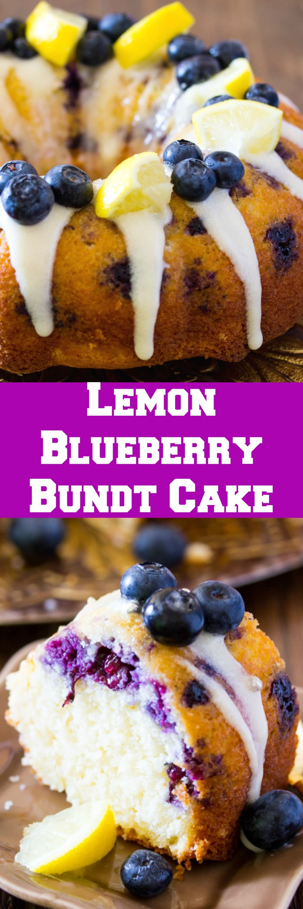 Lemon Blueberry Cake with Cream Cheese Icing