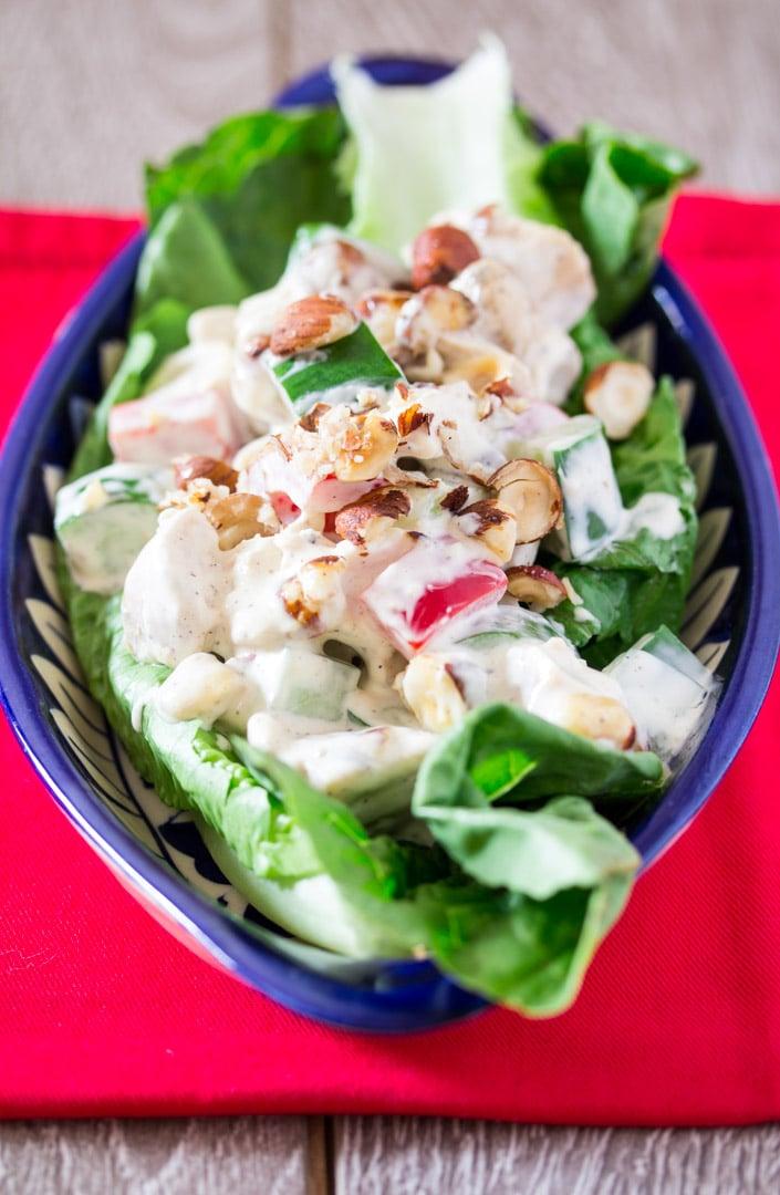 Creamy Chicken Hazelnut Salad