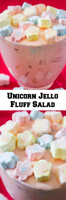 Unicorn Jello Fluff Salad